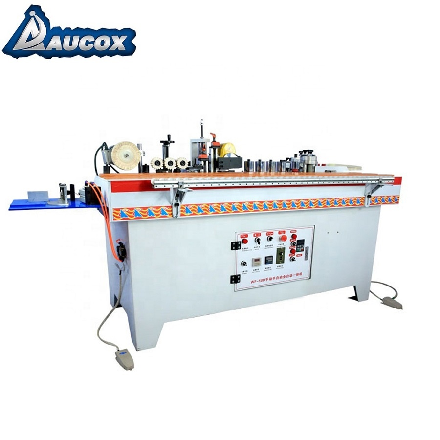 WF50D all in one houtbewerking edge bander trimmen snijden buffing pvc hout handmatige machine kantenverlijmer
