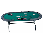 Top Casino Texas Hold'em 12 Seat Plastic Poker Table
