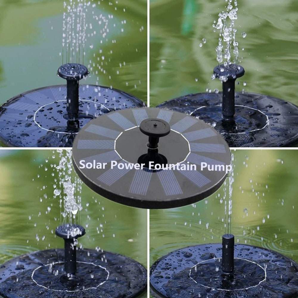 1.4W Solar Powered Floating Water Garden Small Fountain Pump For Bird Bath
