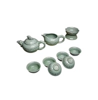 Luqiuhua | porcelain home family company Restaurant blue bean green famous ceramic art cup series home furnishings