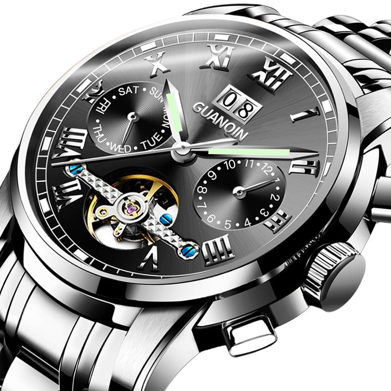 GUANQIN Men Mechanical Watch Japan Movement Waterproof Men Watches Top Brand Automatic Clock Sapphire <strong>Ceramics</strong> Montre Homme 2020