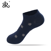 2019 new arrivals Jacquard combed cotton men blue Business Casual short socks
