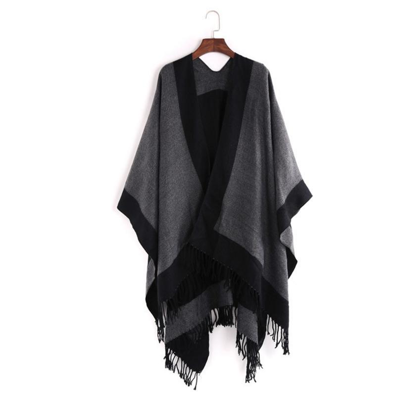 여성 블랙 코트 소프트 shawls 울트라 플러시 컴포트 큰 담요 스카프 목도리 랩 스카프