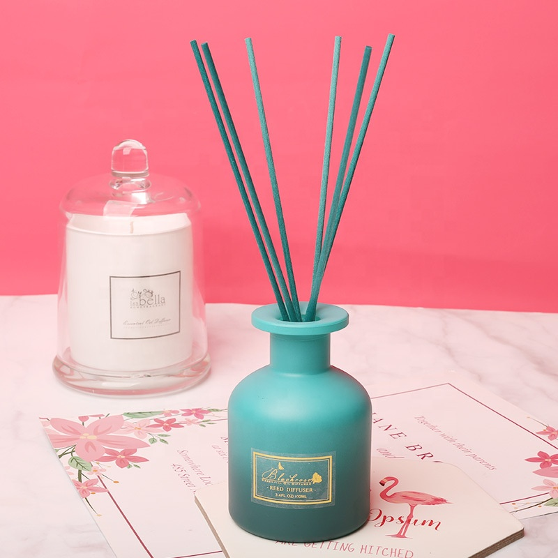 M&Scent private label round bottle home fragrance reed diffuser