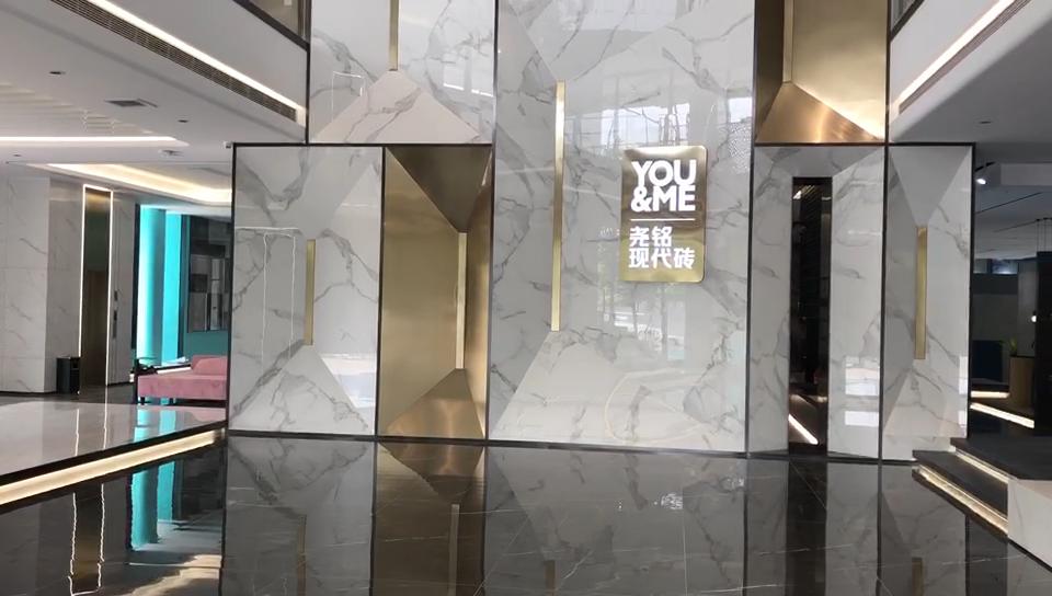Hành lang sàn gạch đánh bóng tàu điện ngầm gạch đá tráng gạch 80x80