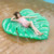 Factory custom Leaf Inflatable Water Mattress Swimming Pool Air Bed