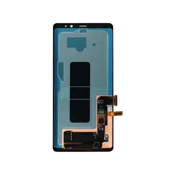 Painel da tela de toque visor de vidro tela lcd de peças de reposição celular original mudou Para Samsung note8 Note9 Note10 note20