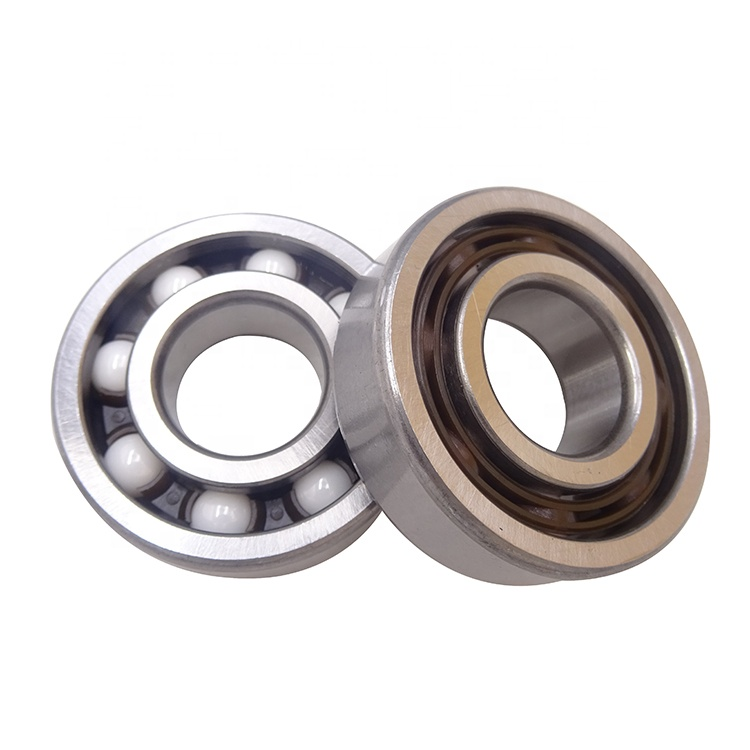 Hybrid ceramic ZrO2 balls 6204 20x47x14mm bearing with chrome steel inner and outer rings
