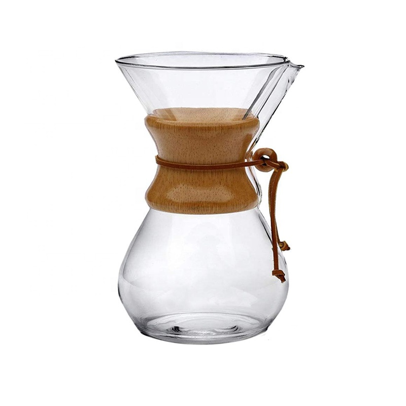 400ml handmade glass <strong>coffee</strong> <strong>drip</strong> <strong>maker</strong> with wood collar