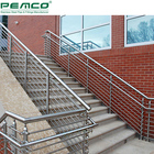 Classical Outdoor Staircase Pipe Banisters House Removable Stainless Steel Handrail Stair Railing Tube Design