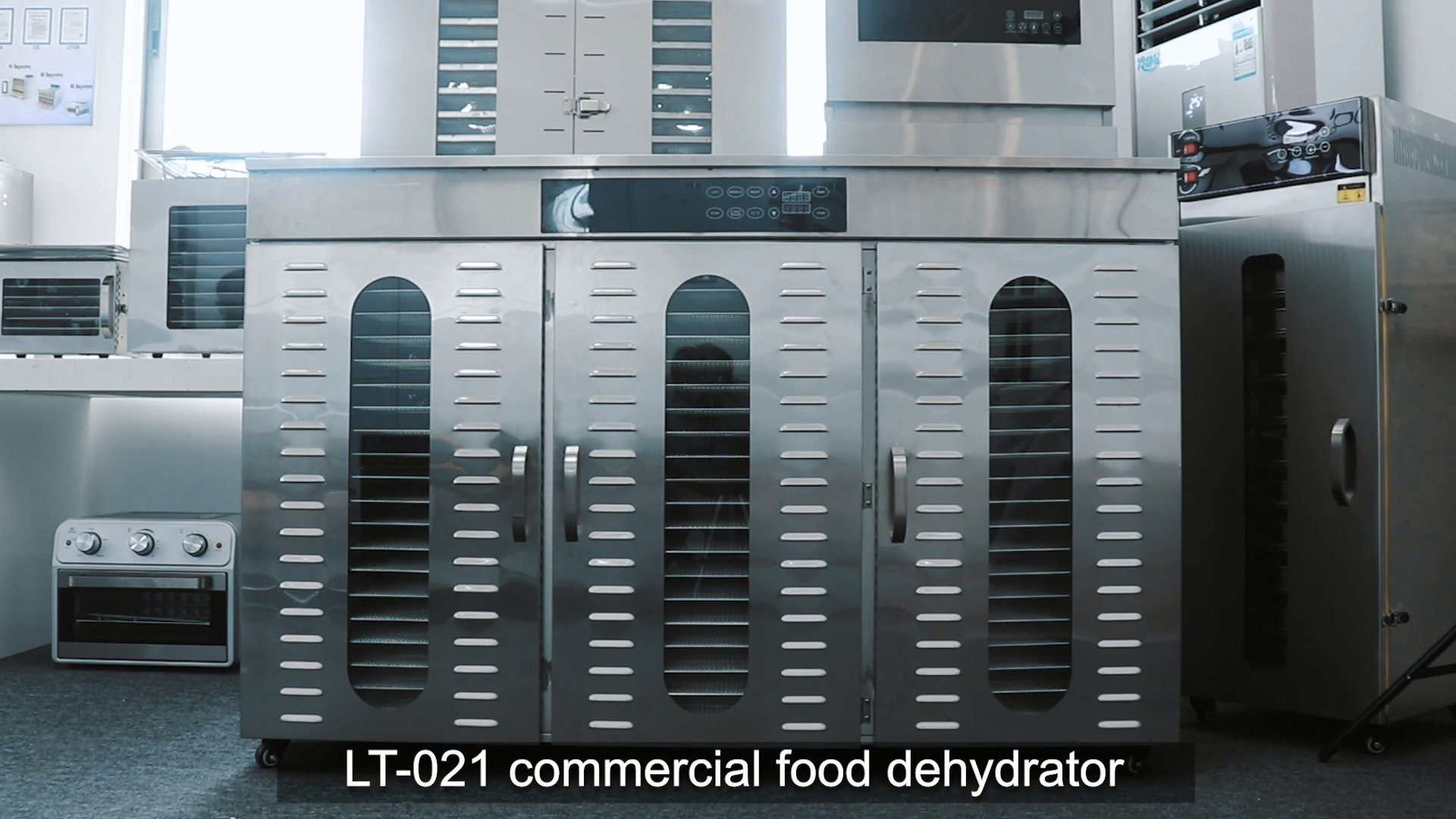 มากอุตสาหกรรมขนาดใหญ่ควบคุมดิจิตอล 60 ss ถาดคู่ outershell อาหารและ dehydrator ผลไม้เครื่อง