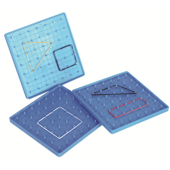 Plastic geometry board for student learning