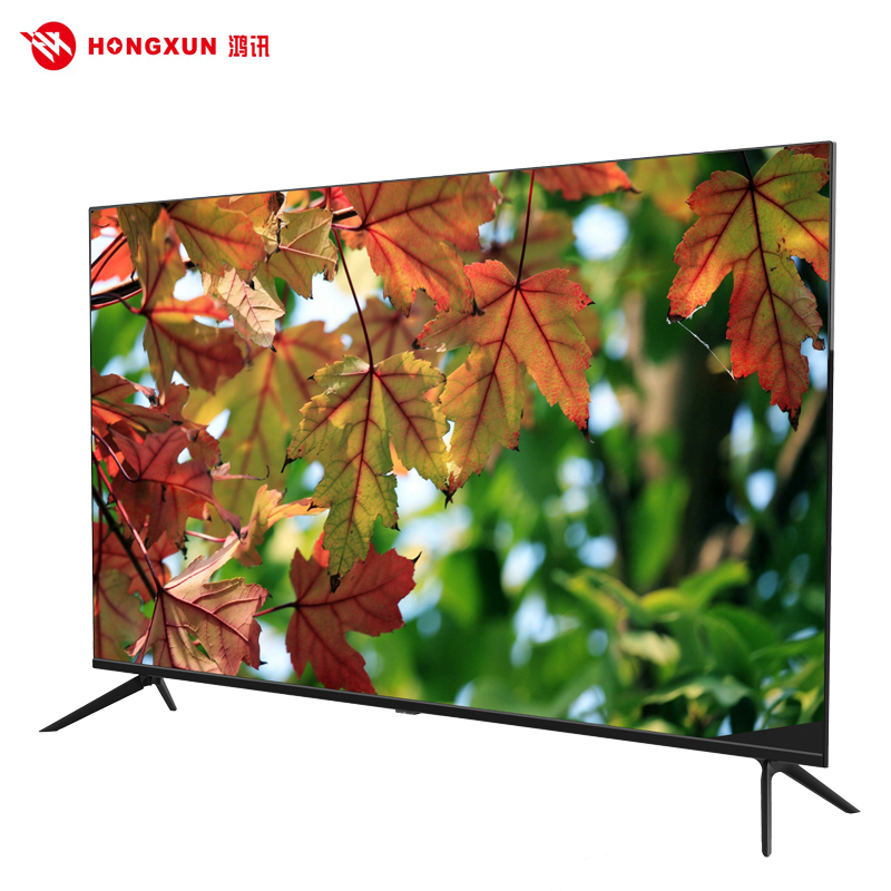 China Guangzhou Boundless big screen Led Tv 4K 55 50 Inch Television Smart Tv