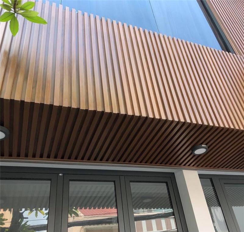 High Quality Wood Finish Fashion Extruded Aluminum Beam Baffle False Ceiling Panels System