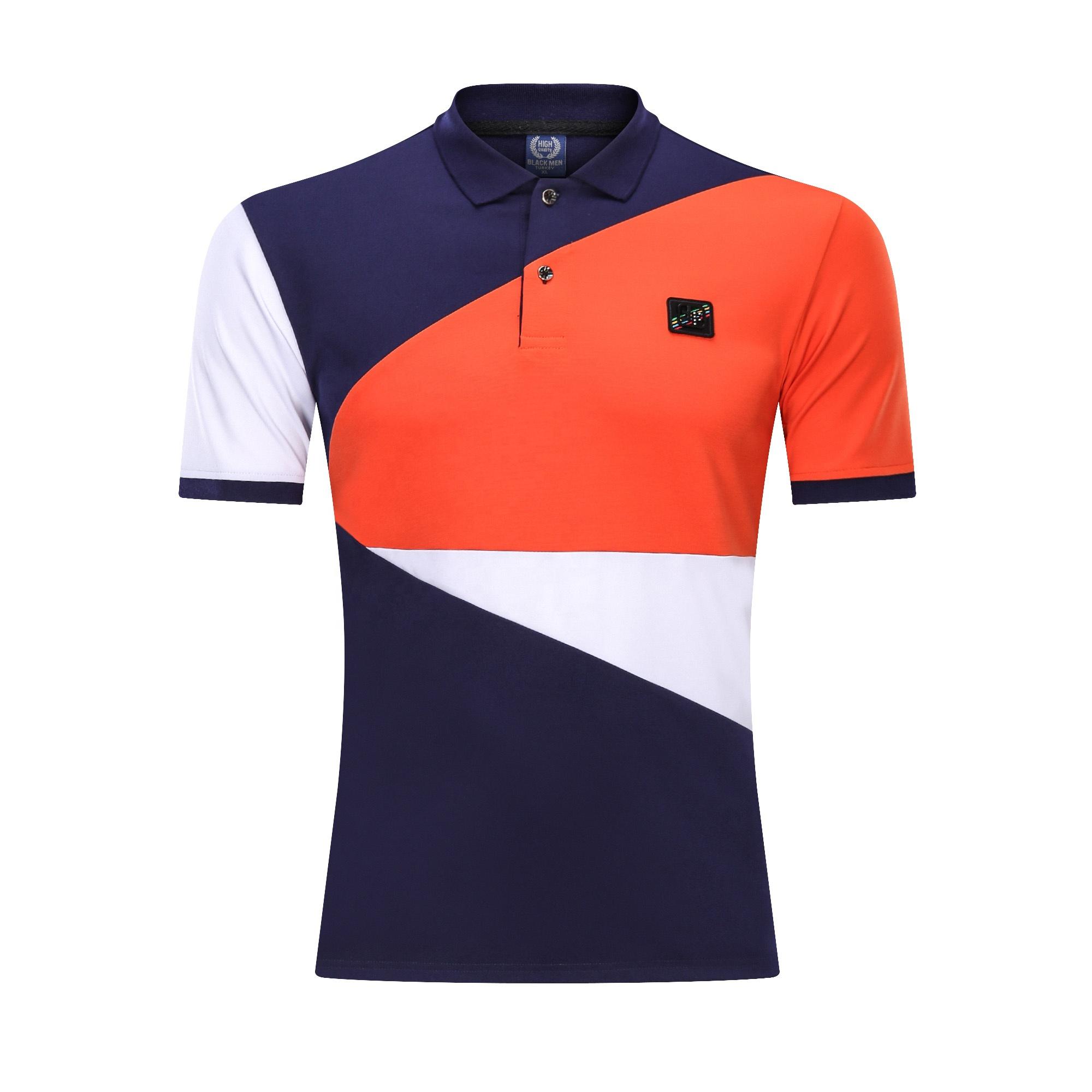 OEM เสื้อยืดที่กำหนดเองแขนสั้นผ้าฝ้ายโพลีเอสเตอร์ Golf เสื้อยืดเย็บปักถักร้อยความคมชัดสีโปโลเสื้อ T