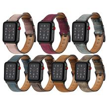 Correa para Apple Watch bandas <span class=keywords><strong>de</strong></span> <span class=keywords><strong>cuero</strong></span> 38mm 44mm 40mm 42mm reemplazo correas <span class=keywords><strong>de</strong></span> <span class=keywords><strong>cuero</strong></span> <span class=keywords><strong>genuino</strong></span> para Iwatch 83011