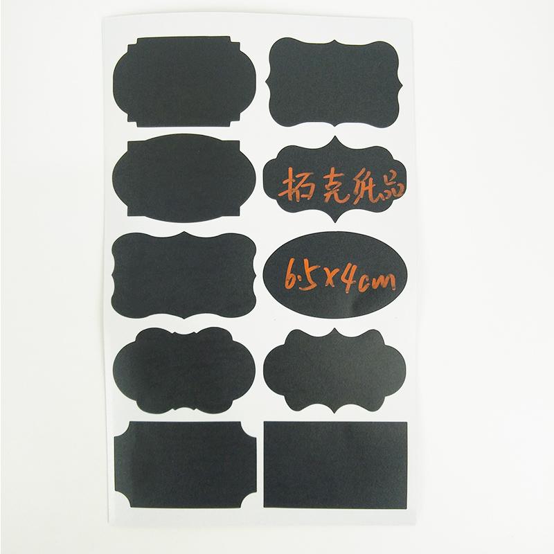 Wasserdicht Tafel Etiketten Aufkleber Mit Kreide Marker Perfekte Etiketten Mason Jar Schwarz aufkleber Etiketten für Klassifizierung