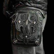 Поясная Сумка в готическом стиле для мужчин и женщин, мотоциклетная сумка в стиле стимпанк, рок, сумка-мессенджер через плечо(Китай)
