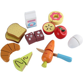 Best Selling Product Kids Pretend Playing Toy Wholesale Customized Wooden Box Packing Kitchen Toys Children
