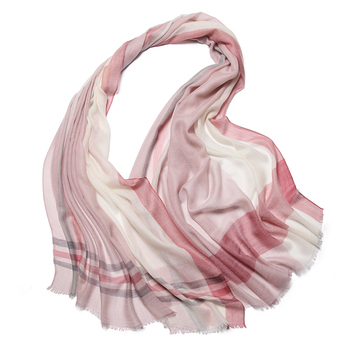 Comfortable Cheap Custom Print Cashmere Plaid Knit Infinity Scarf