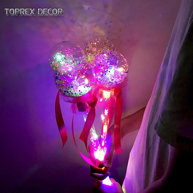 Event party  valentines day decor multi color luminous magic stick items led fairy lighjts