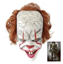 Pennywise it Horror Clown Joker Latex Mask Kings it Cosplay Performance Stage Props Halloween Character Mask