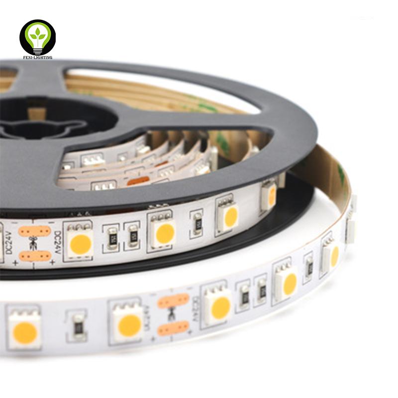 5050 Series Flexible LED Strip Light CRI90 30leds/m customized power