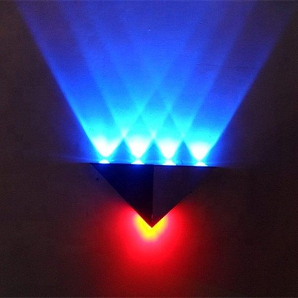 Promotional high power 5w blue+red led wall light for indoor home decoration