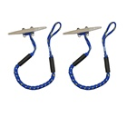 Professional Bule Adjustable Marine Pwc Dock Rhino Knots Line Boat Retractable Spring Lines Mooring Rope Manufacturers