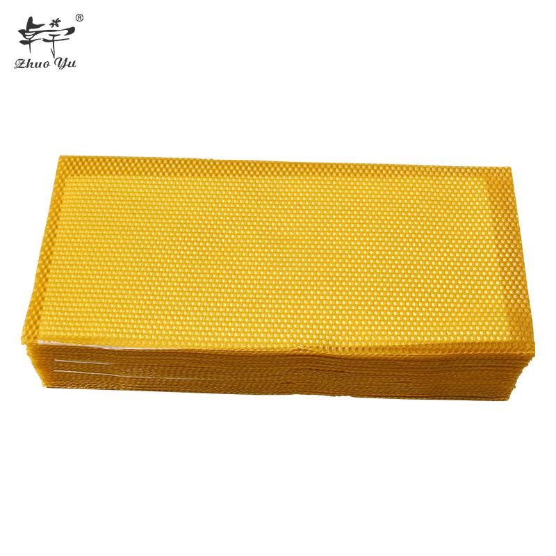 2020 Shallow Deep Natural Beeswax Pure Honey Bee Wax Foundation Sheets
