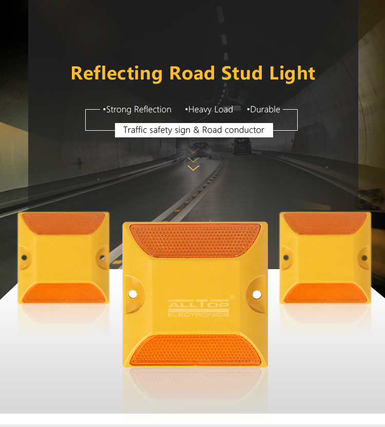 ALLTOP Large supply road traffic safety double side PMMA reflectors high visible ABS plastic road stud light