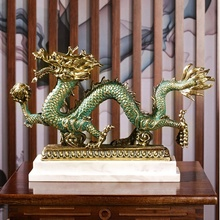 Fundición de metal de bronce <span class=keywords><strong>dragón</strong></span> chino estatuas