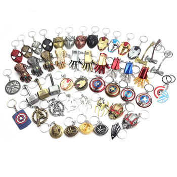 Custom amazon label metal hammer keychains movie with epoxy marvel the avengers spider game pack personalized keyring
