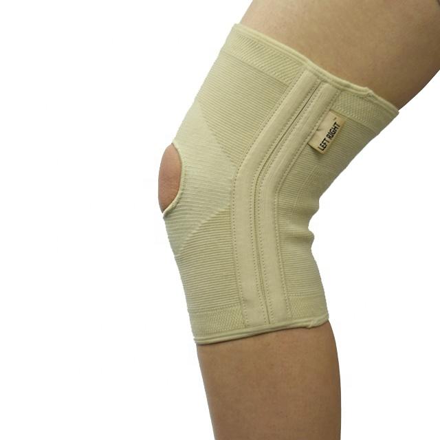 L & R médico almohadillas de soporte de rodilla de compresión de la rodilla mangas