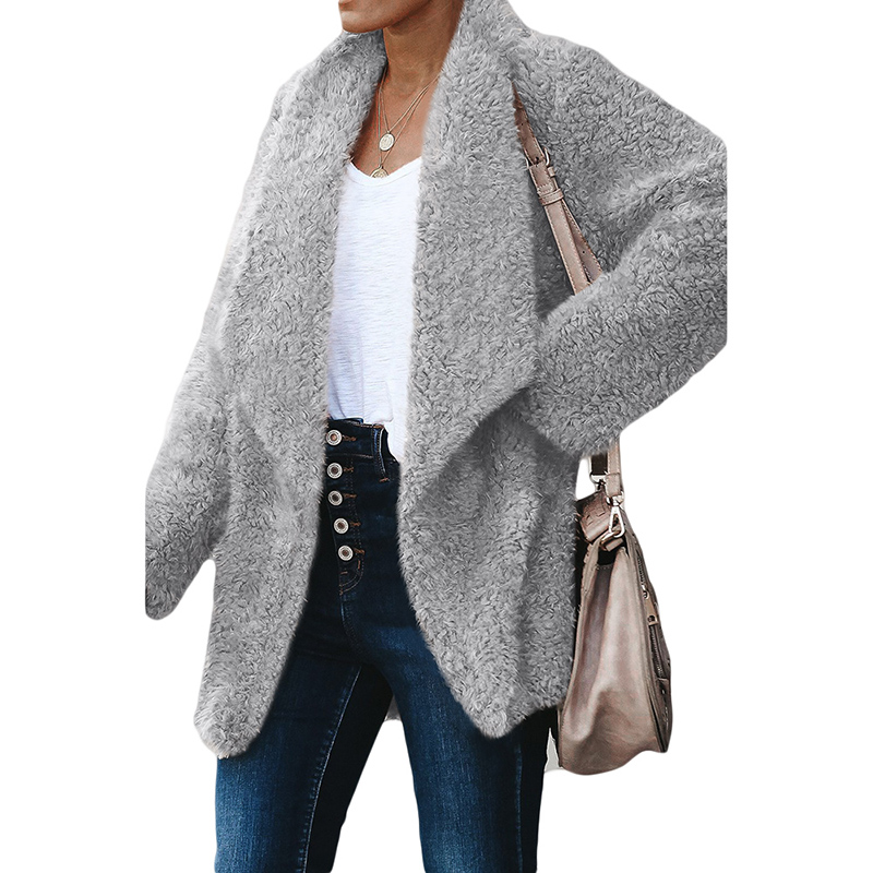 New <strong>Fashion</strong> Women <strong>Winter</strong> Pocketed Sherpa Jacket Warm <strong>Coat</strong>