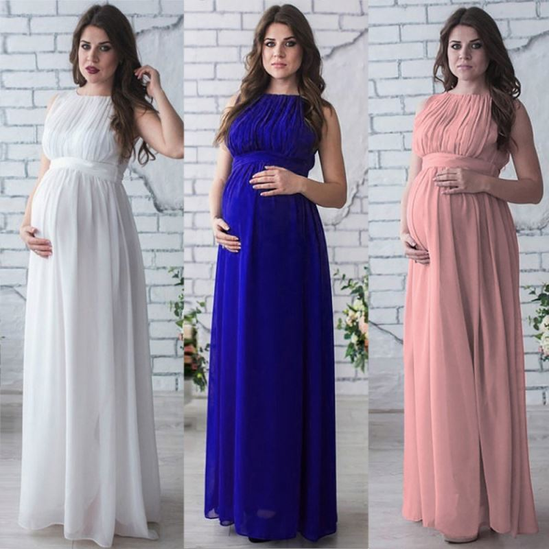 2020 Best Selling Fashion <strong>Maternity</strong> <strong>Dress</strong> Ladies Long <strong>Dress</strong> Chiffon Clothing