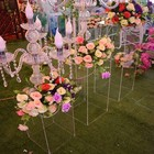 Wedding Decoration Assembly Type Wedding Acrylic Frame Geometric Flower Stand Centerpiece Road Lead Decoration On Stock