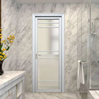 White Bathroom Sliding Bedroom Aluminum Interior Doors With Frames