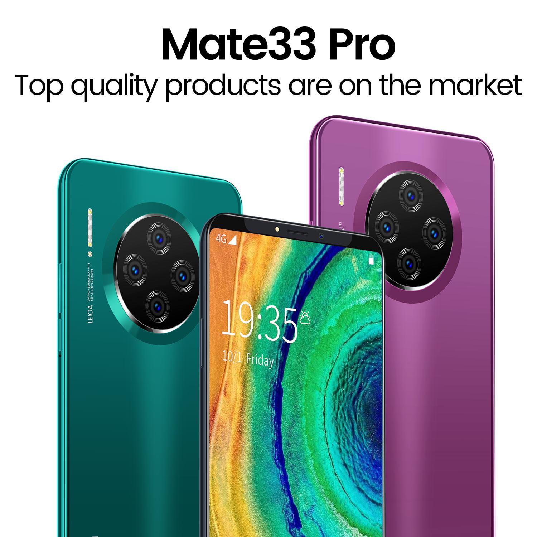 Điện thoại thông minh Mate33 pro 6.1 inch Điện thoại thông minh OEM giá rẻ Điện thoại thông minh 4G Điện thoại OEM 8gb + 128gb