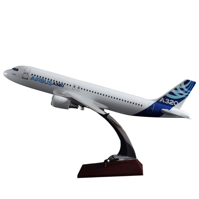 Customized aviation <strong>model</strong> A320 original <strong>model</strong> 37cm resin crafts creative gifts living room decoration