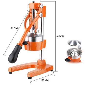 HR-MJ Fruit juicer production line Hand press lemon orange juicer extractor Home use manual citrus juicer