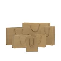 Custom wholesale printing logo kraft paper shopping gift bag for jewelry packaging