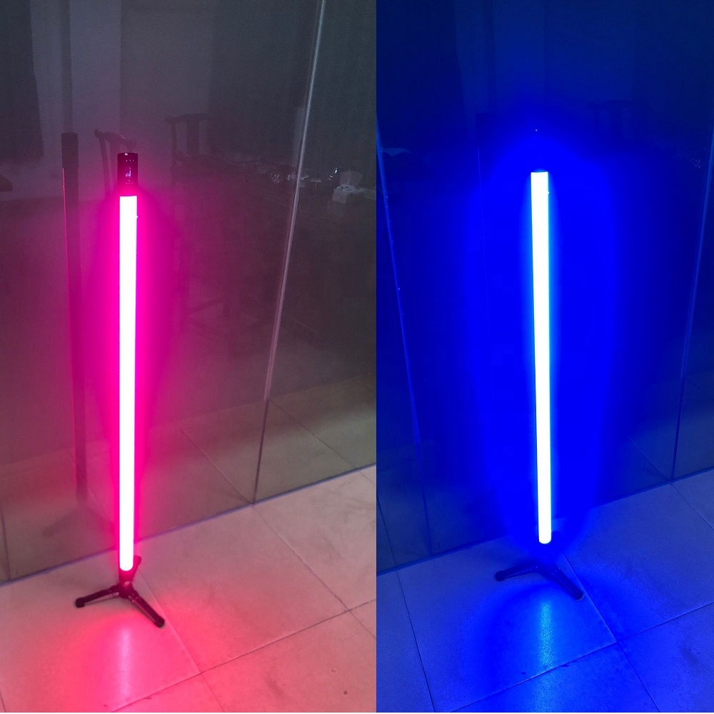 4ft 120cm 50W RGBYW Battery Powered led tube, led film light, Dimming DMX 512 with effects LED Video Tube