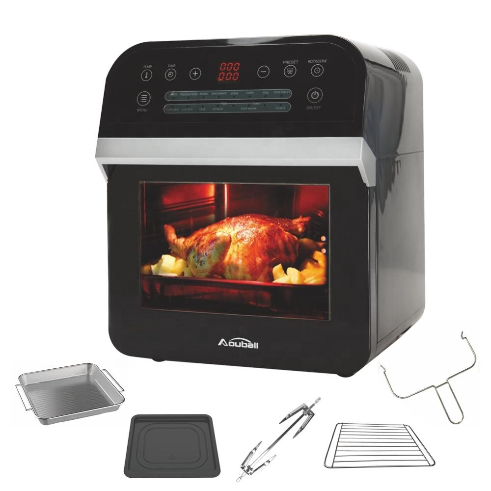 multifunctional air fryer oven, 12L air fryer with SS heat element, steak cage air fryer with dry fruit
