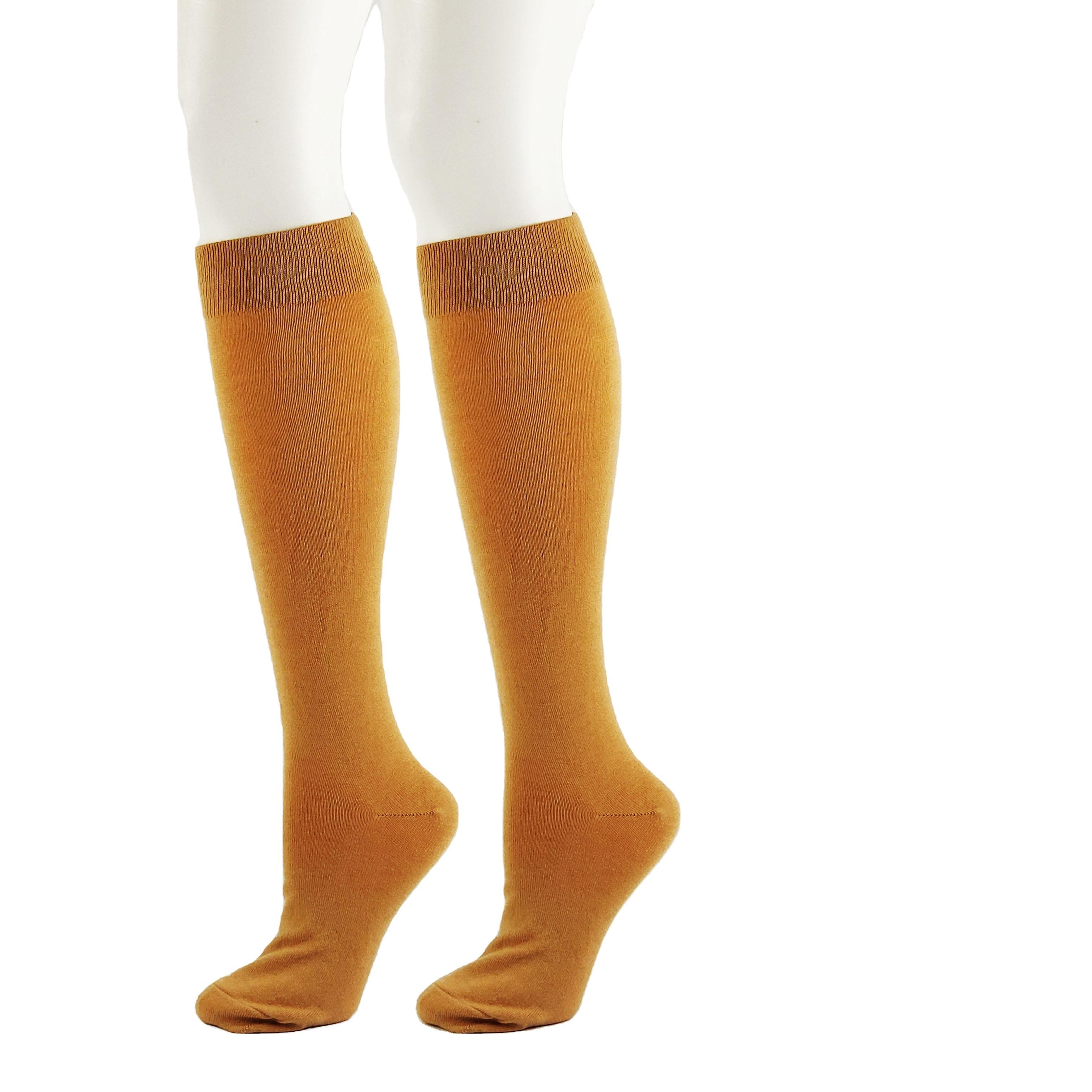 Toptan özel yüksek kaliteli kadın diz üstü çorap moda yün uyluk yüksek çorap