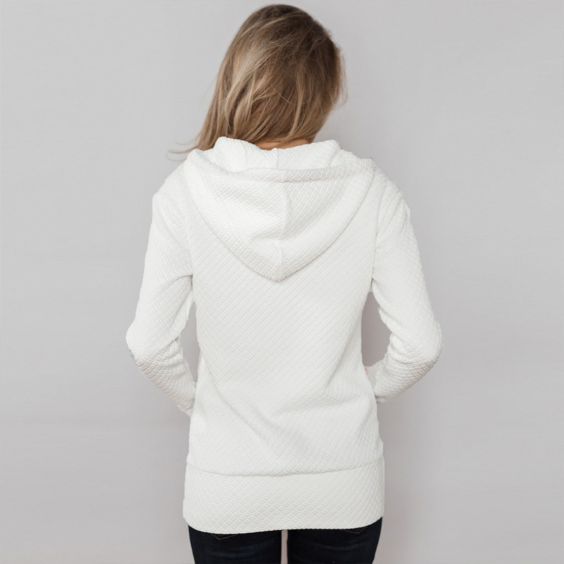Half Zip Female Pullover Long Sleeve Casual  Zipper Hoodies Women