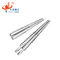 double nitriding conical twin screw barrel extruder for pvc