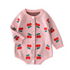 MXG93 Baby 2019 autumn infant wool sweater printing high quality cute romper