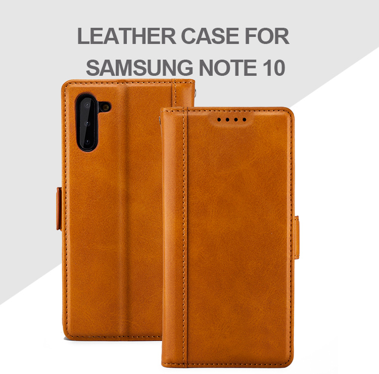 Vintage Leather Flip Cover pu leather with Wallet Card Holder Phone Case for Samsung Galaxy Note 10 Back Cover Stand Case