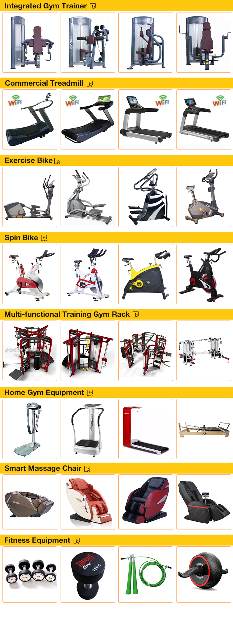 Commercial fitness equipment Multi Jungle station 8 stacks multi jungle gym station